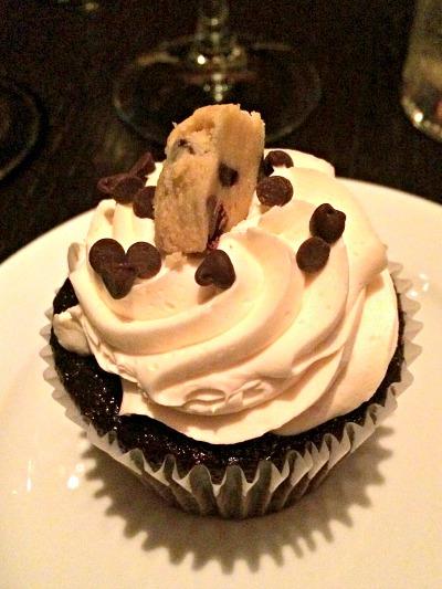 Chocolate Chip Cookie Dough Cupcake