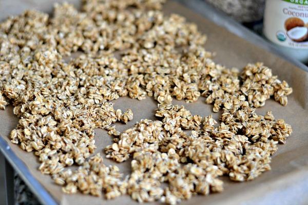 unbaked peanut butter granola