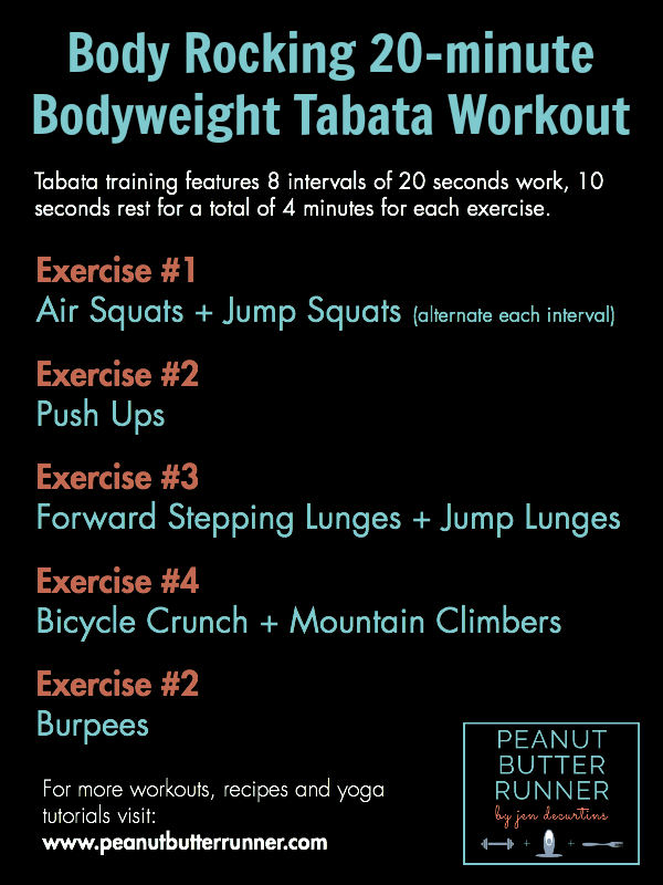 Peanut Butter Runner Body-Rocking Tabata Workout