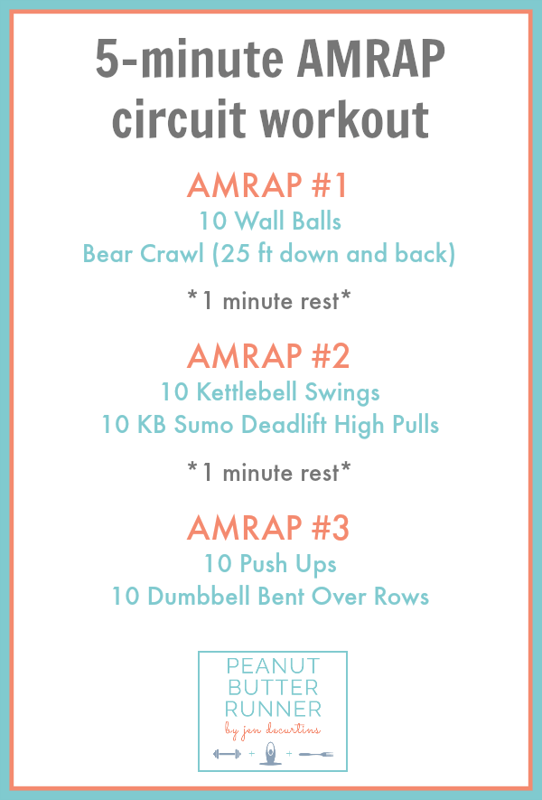 5-minute AMRAP Circuit Workout