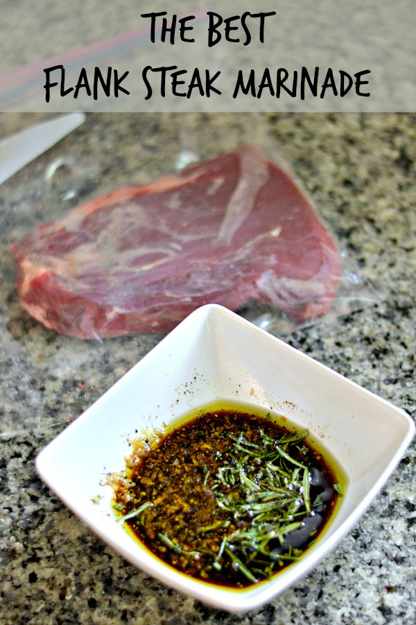 This flank steak marinade is simple to whisk together and features ingredients you probably already have on hand.