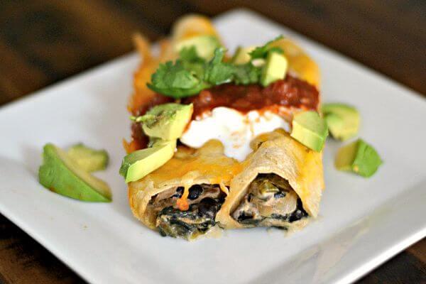 Vegetarian Enchiladas 2