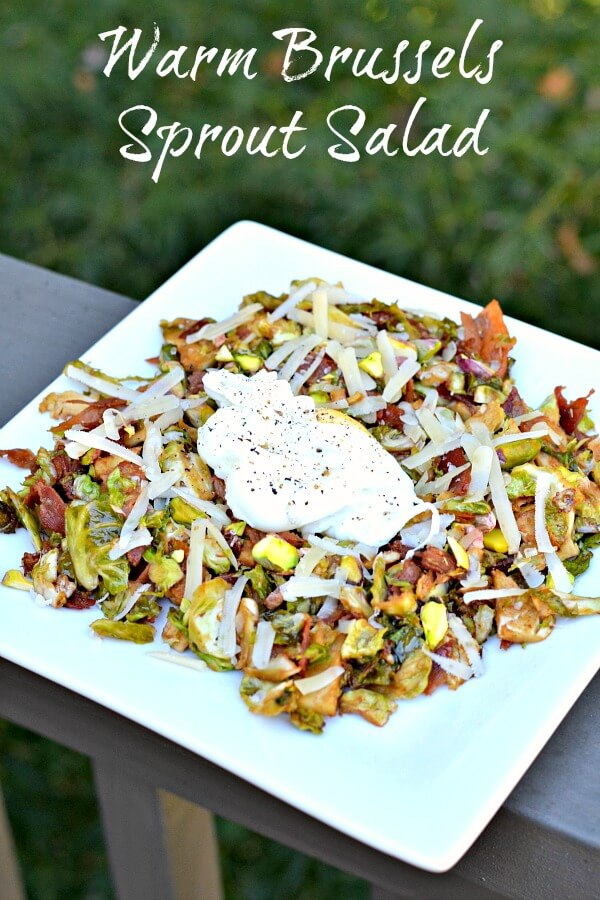 Warm Brussels Sprout Salad