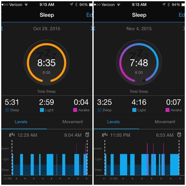 Garmin Sleep Tracking