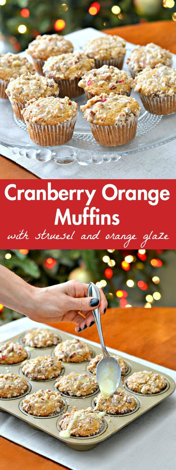 Cranberry Orange Muffins with Streusel and Orange Glaze