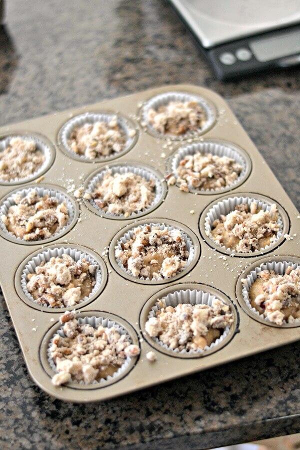 Unbaked Cranberry Orange Muffins