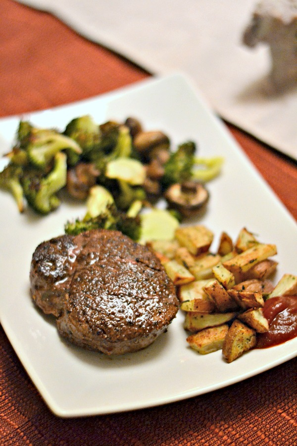filet and potatoes
