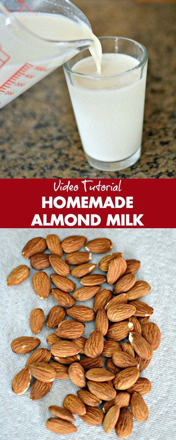 Making homemade almond milk is easy and only takes three ingredients and five minutes. Check out this video tutorial.