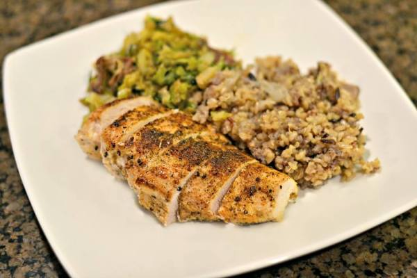 Easy and healthy chicken breasts seasoned with Dizzy Pig rubs.