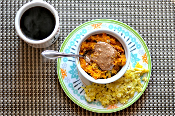 Sweet Potato Breakfast Bowls with Scrambled Eggs