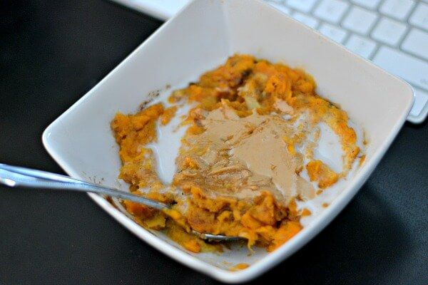 Sweet Potato Breakfast Bowl with Cashew Butter and Coconut Cream