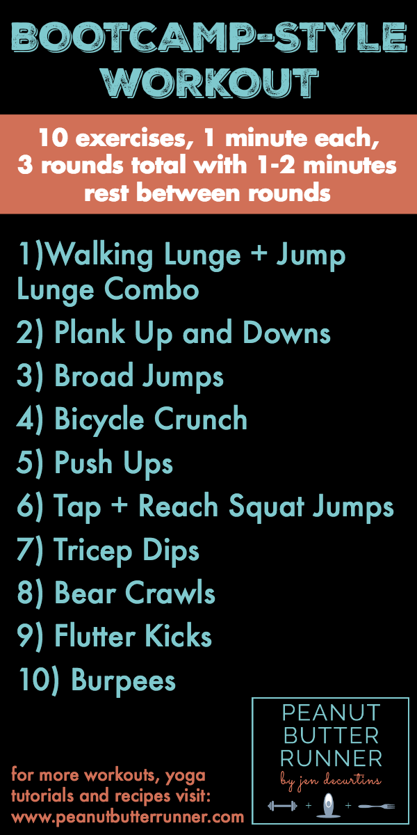 30 minute bootcamp style bodyweight workout. Black Bedroom Furniture Sets. Home Design Ideas
