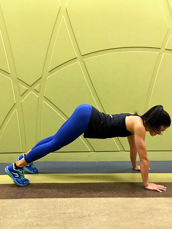 Plank with hips lifted out of alignment