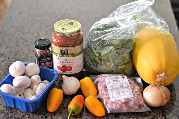 Stuffed Spaghetti Squash Ingredients