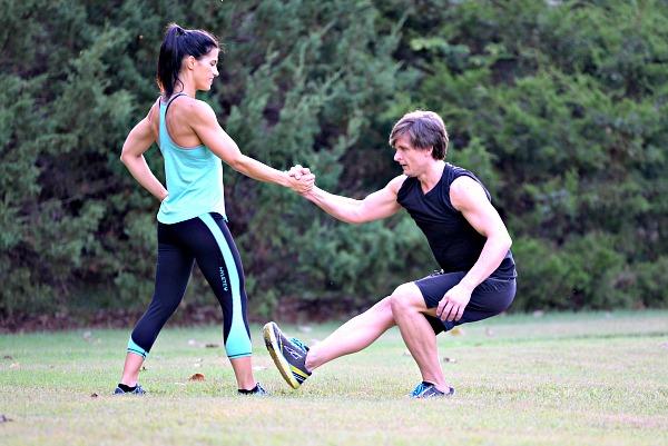 Partner Assisted Single Leg Squats