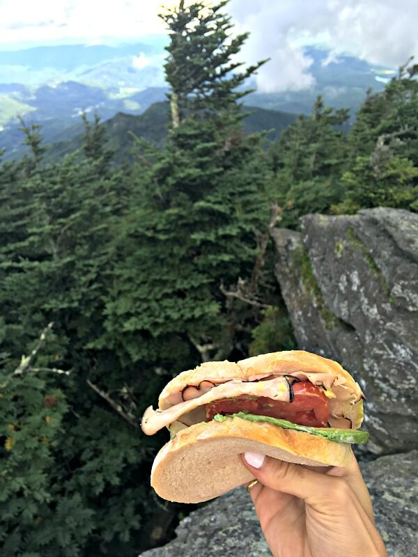 Lunch at Calloway Peak on Grandfather Mountain