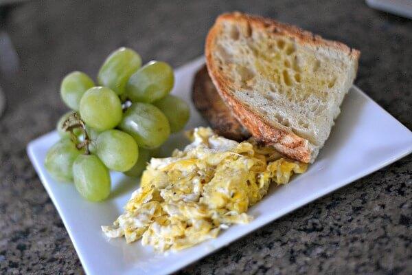 Eggs and sourdough toast