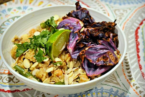 Purple Carrot Vegetable Briyani