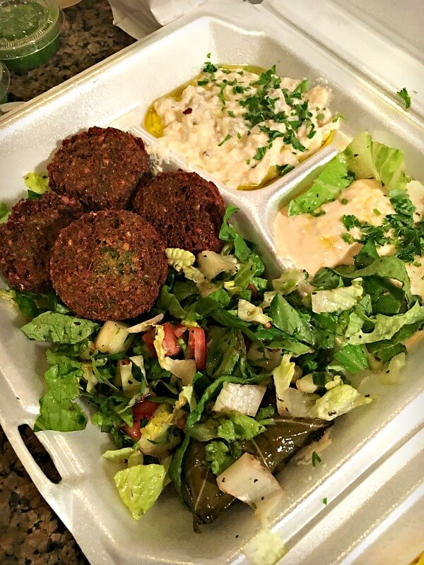 La Shish Kabob Vegetarian Combo