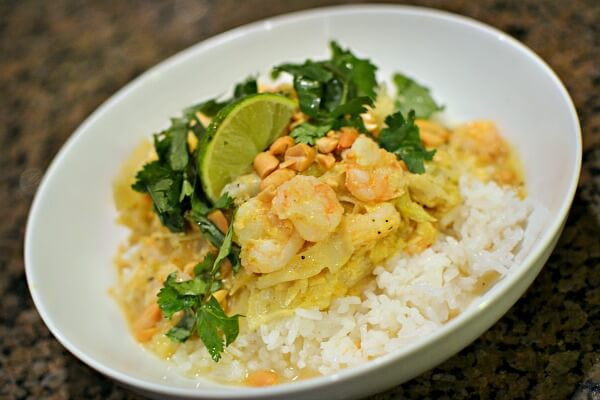 blue apron curry cabbage