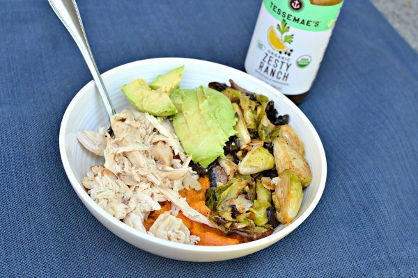 Sweet potato and chicken lunch bowl