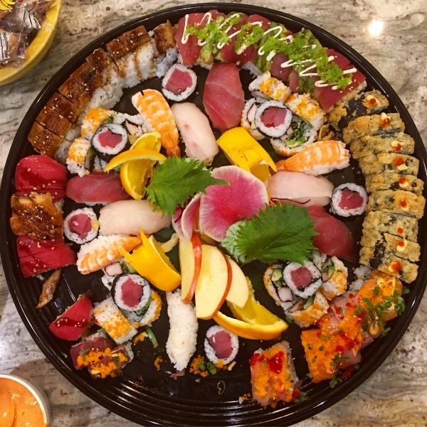 cowfish sushi platter