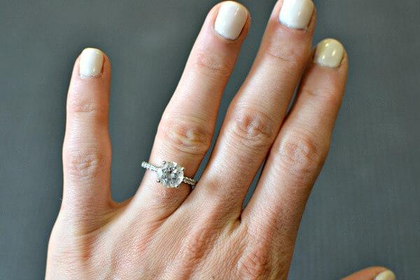 round solitare engagement ring