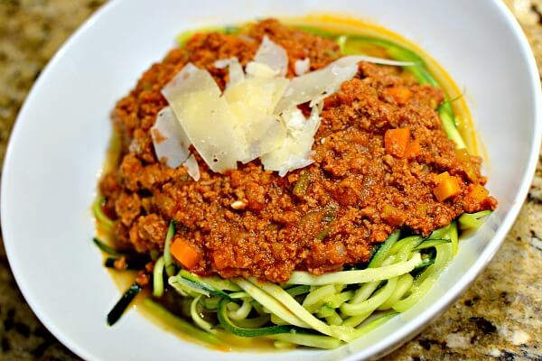 80Fresh Zoodles Bolognese