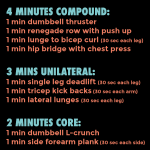 20 (or 30) Minute Total Body Dumbbell Workout + Fitness Goals + A Workout Playlist