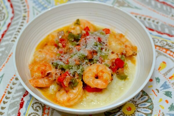 80Fresh Shrimp and Cauliflower Grits