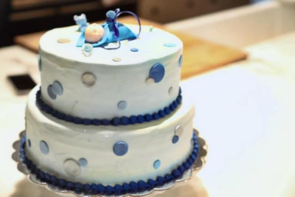 Baby Boy Brunch Shower cake