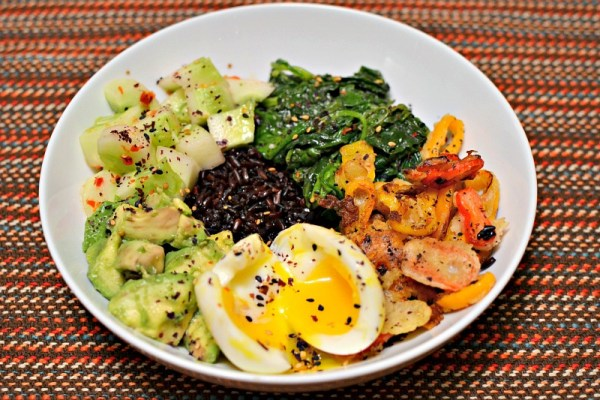 blue apron purple rice bowl dinner vegetarian