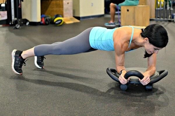 AbDolly Forearm Plank with rotation