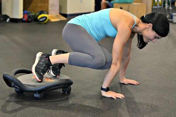 AbDolly Plank Oblique Crunches