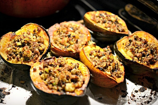 stuffed acorn squash with italian sausage and apples