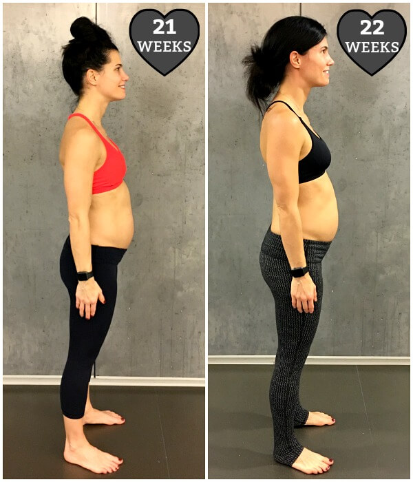 21 weeks pregnant body