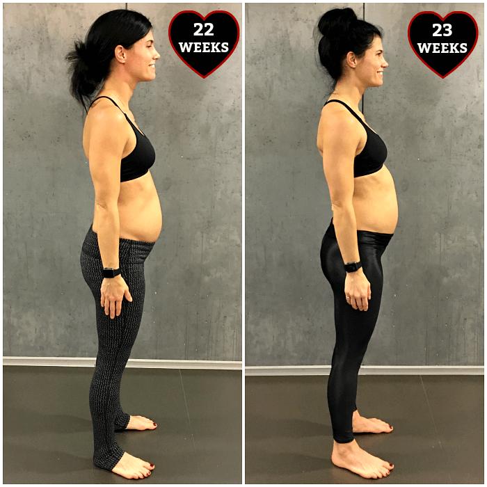 23 weeks pregnant belly