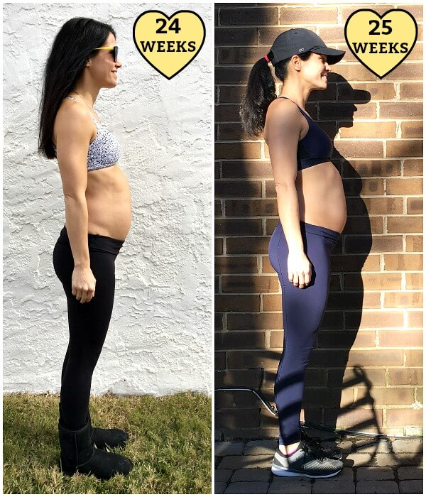 25 weeks pregnant belly