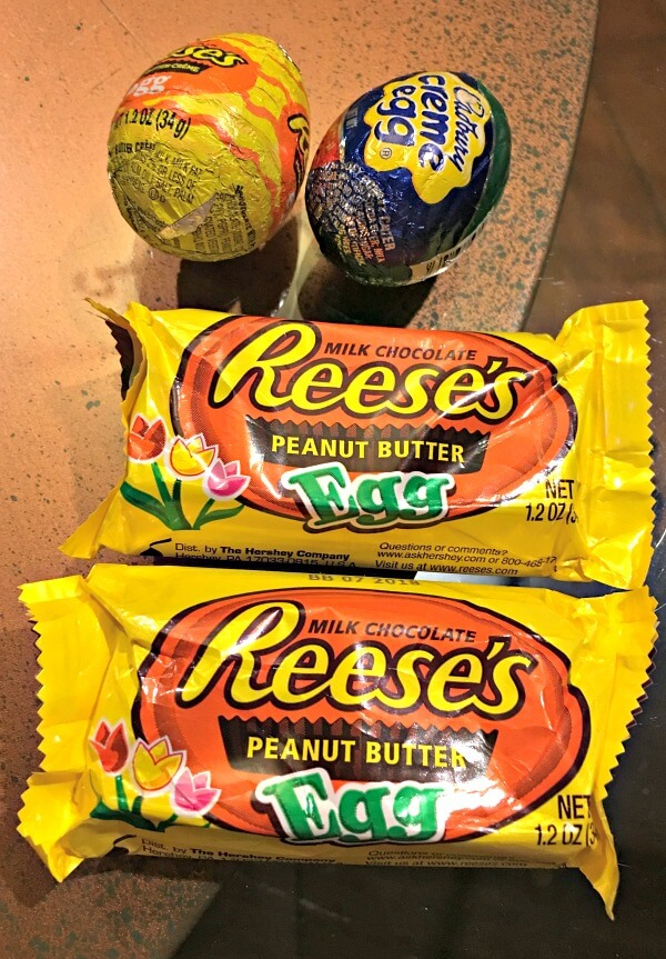 reese's and cadbury eggs