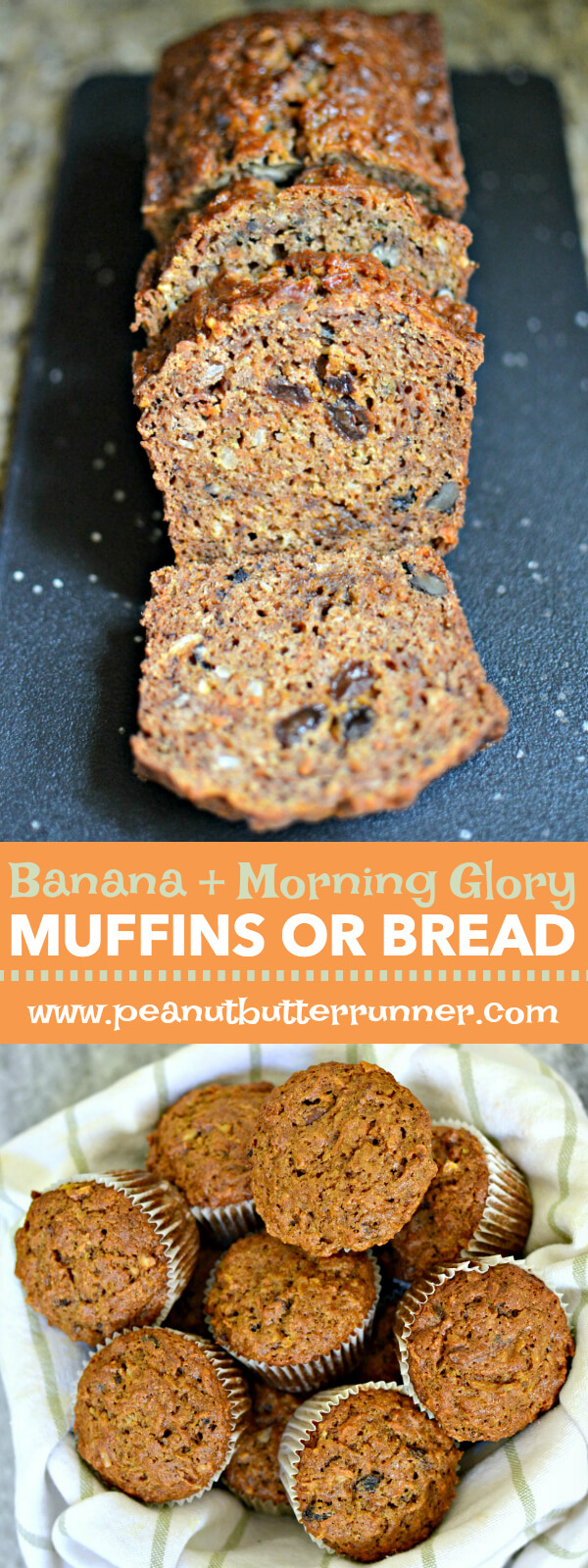 Banana Morning Glory Muffins or Quick Bread Recipe