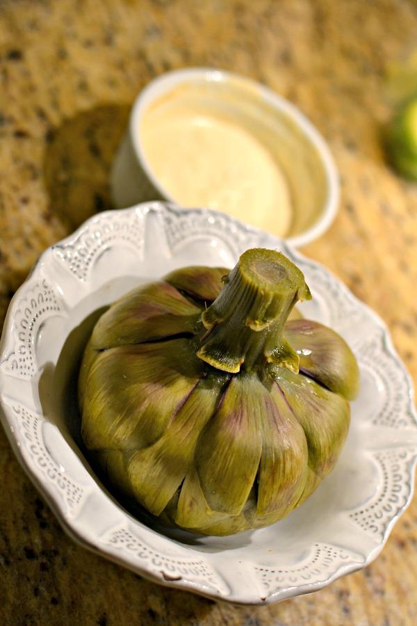 steamed artichoke