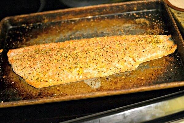roasted coho salmon
