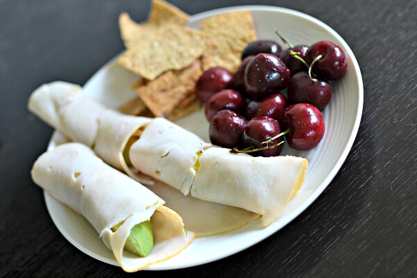 Turkey Roll Up Snack Plate