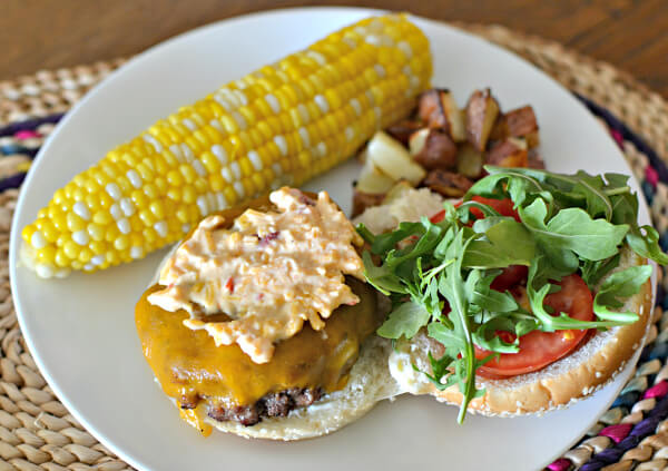Burger with pimento cheese