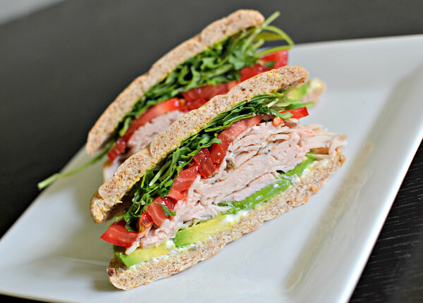 turkey sandwich on onebun sandwich thin