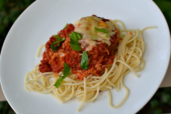 homemade eggplant parmesan