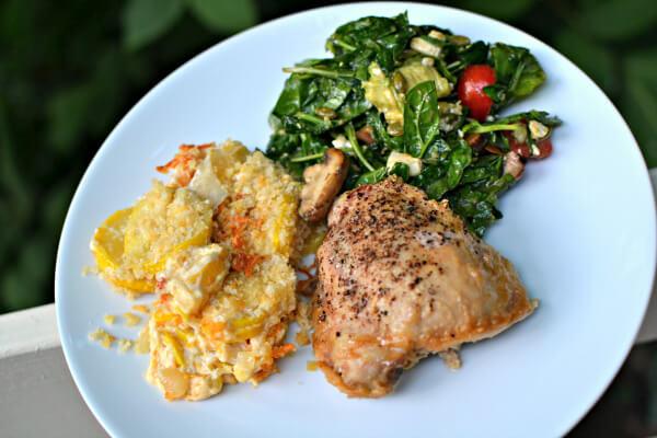 Tahnini Marinated Baked Chicken