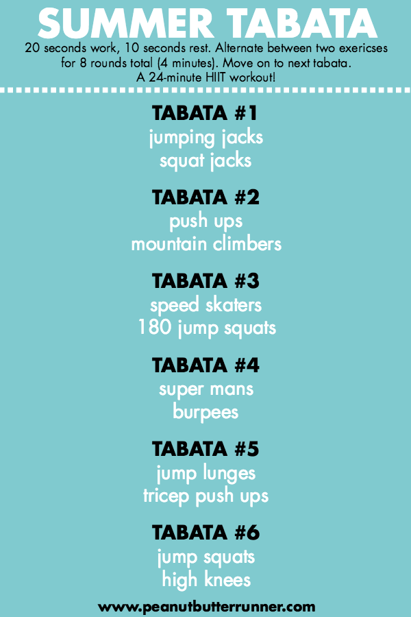 Best Tabata Workout: Summer Tabata