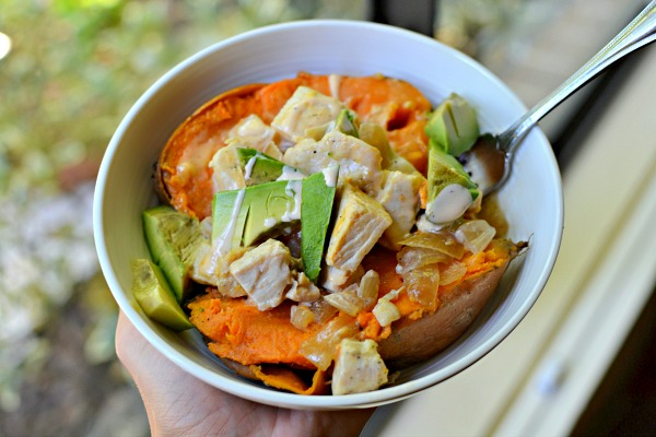Sweet Potato with Chicken and Avocado