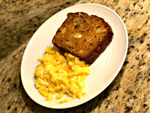 Pumpkin Apple Bread and Scrambled Eggs